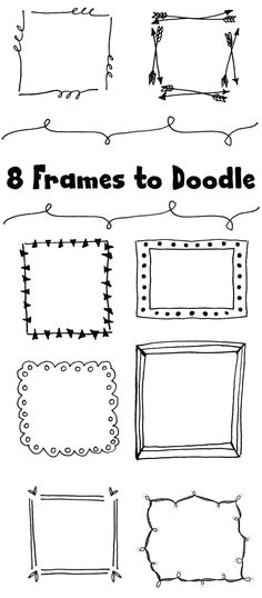 8 frames to doodle bullet journal banner borders bullet journal bullet journal dividers