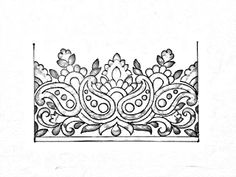 hand embroidery design how to draw an easy saree border design for hand embroidery here