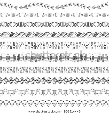 seamless doodle border and frame elements two by kleyman via shutterstock