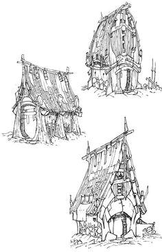 artstation archive linework drawings christian piccolo environment concept art environment design