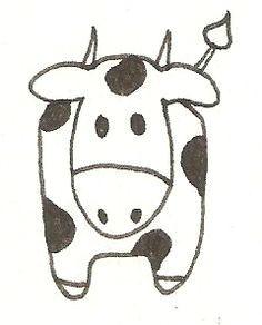 koe tekenen little cow drawing easy