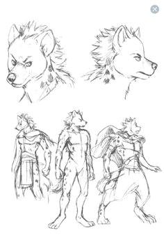 hyena thumbnail sketches