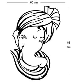 simple ganesh line drawings google search