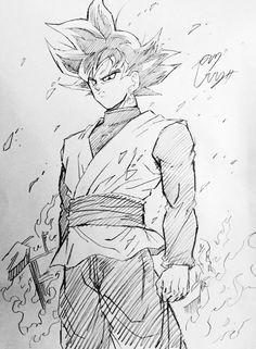 black goku drawn by young jijii found by songokukakarot goku dragon