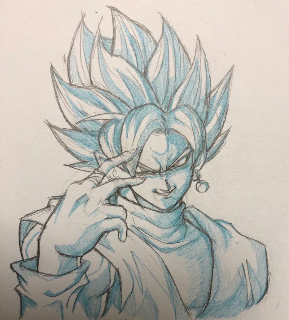 goku black drawing