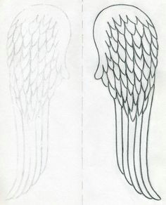 angel wings outline how to draw angel wings quickly in few easy steps angel wings