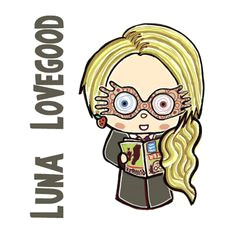 how to draw cute chibi luna lovegood from harry potter in simple step by step drawing