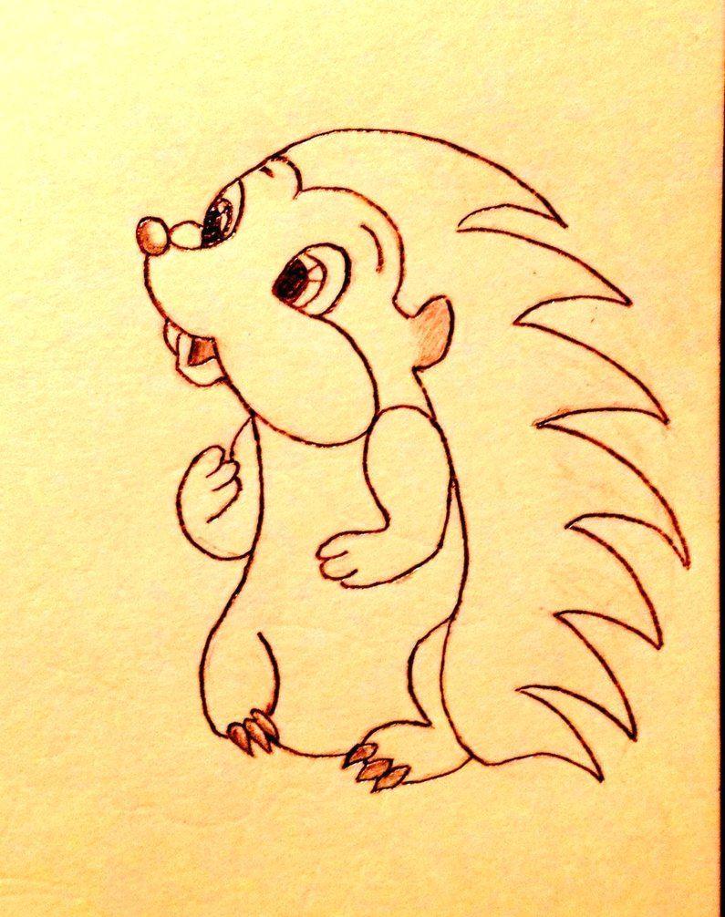hedgehog drawing cute hedgehog drawing by slapshot2110