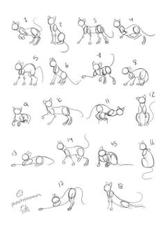 cats poses references by eifihanaki cat drawing tutorial drawing tutorials drawing techniques drawing