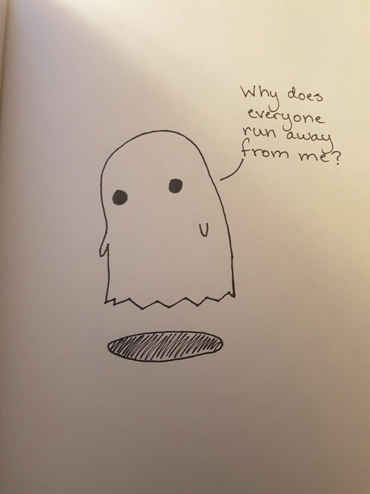 Drawing Easy Marker Art Doodle Ghost Pencil Drawings Sad Easy Simple Marker Pen