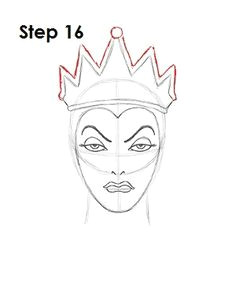 learn how to draw the evil queen grimhilde from walt disney s snow white with this step by step tutorial and video a new cartoon drawing tutorial is