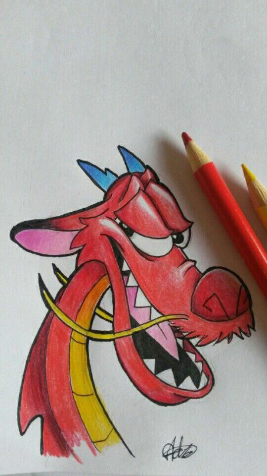 mushu drawing disney disneydrawing mushu mulan disneycharacter drawing pencil pencilart art artwork sketch artist