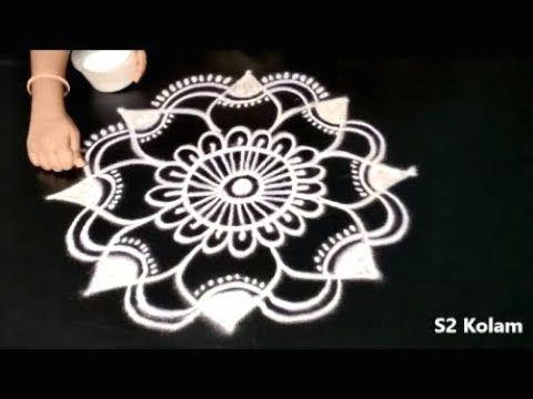 how to draw beautiful mandala designs easy rangoli pretty kolam designs muggulu youtube