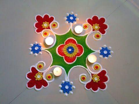 super easy and quick border rangoli designs creative rangoli designs by shital mahajan youtube