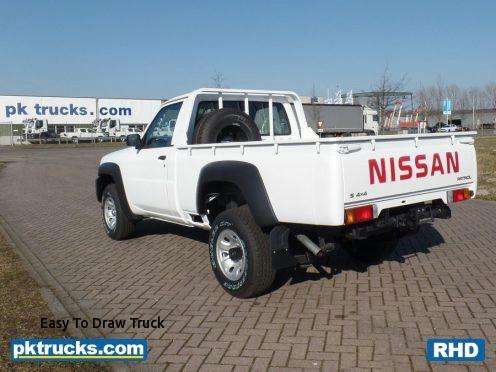easy to draw truck nissan patrol 3 0d pk trucks holland