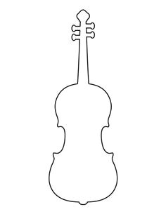 violin pattern use the printable outline for crafts creating stencils scrapbooking and