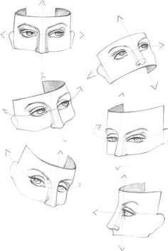 figure drawing eye study at different angles