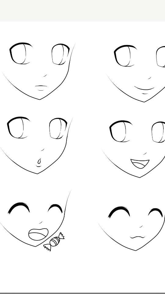 Drawing Eye Expressions Basic Anime Expressions Manga Pinterest Drawings Manga