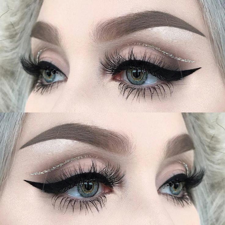 glitter cut crease neutral eye shadow a fierce wing by