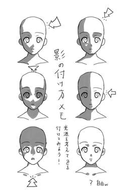 different lighting direction on a face drawing poses manga drawing drawing sketches cartoon