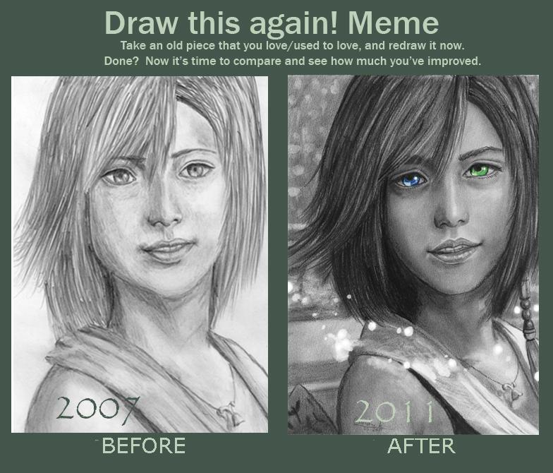 draw this again meme yuna by acjub