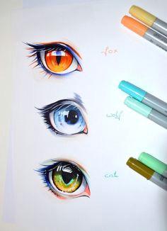 human animal eyes