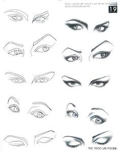 desenho de moda olhos mais