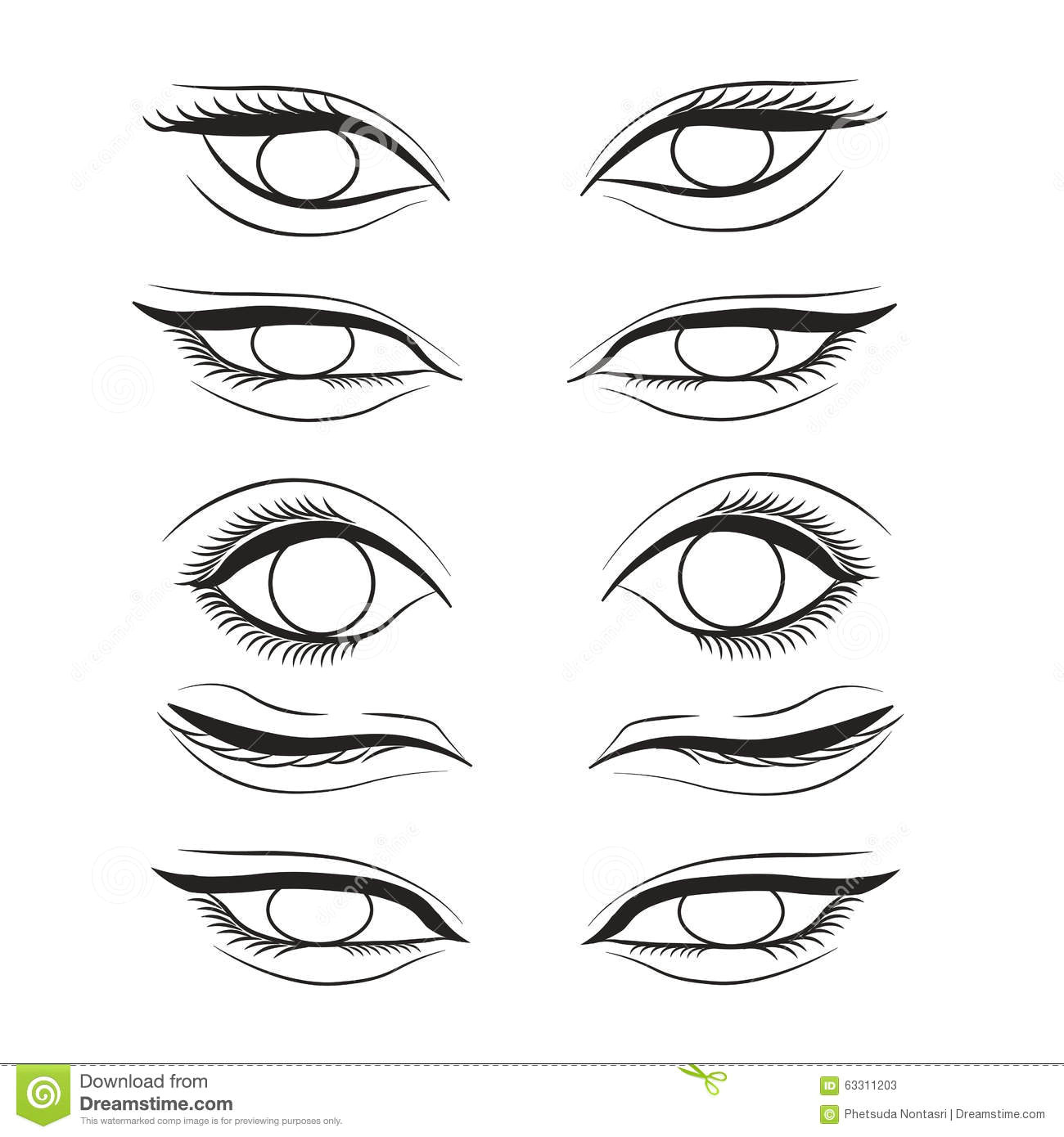 eye cartoon line sketch shape design abstract illustration