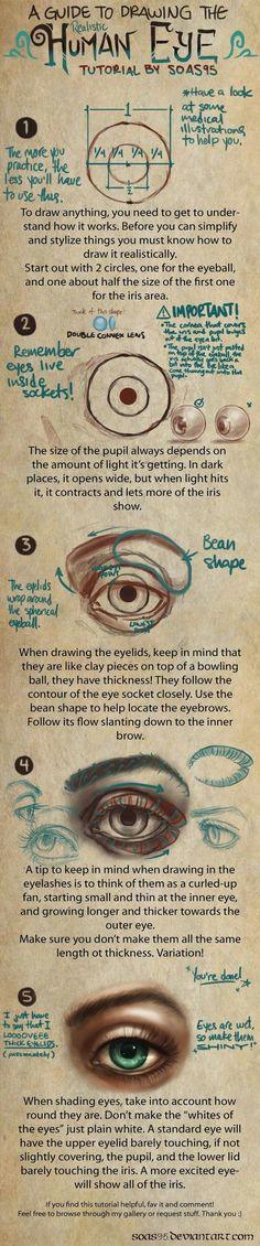 human eye tutorial by soas95 on deviantart http soas95 deviantart
