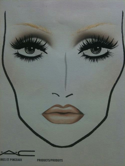 mac face chart 60 s doll eyes look i love this