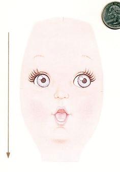 doll face transfers pattern doll face pattern