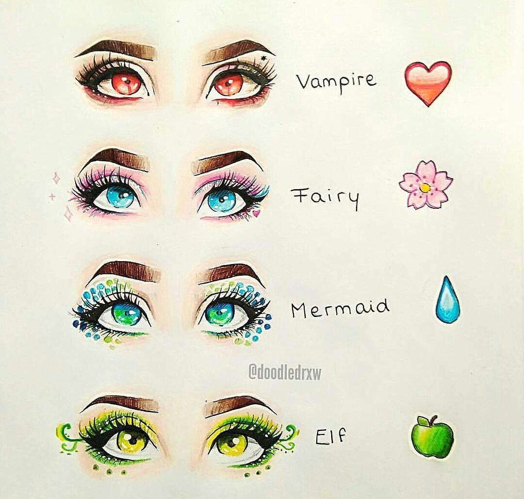 vampire fairy mermaid elf eye art