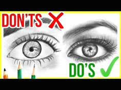 do s don ts how to draw realistic eyes step by step drawing tutorial