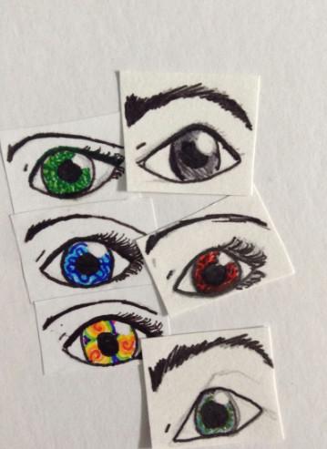 i drew these eyes based off of elemental characteristics augen grundierung