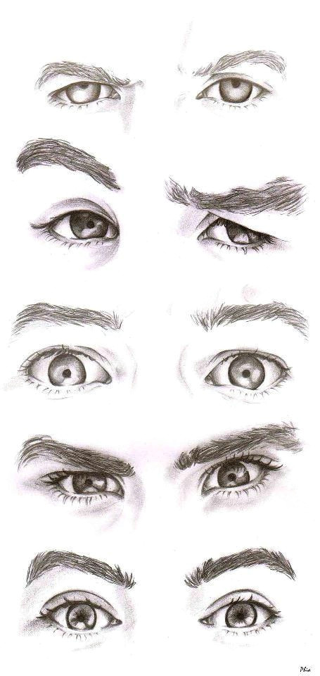 even without the color i know who is who and these are the most attractive eyes ever