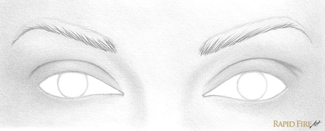 starting at the bottom portion of the eyebrow draw upward strokes the strokes should be thickest at the base and very