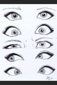 how to draw eyes i think this really helps a lot with eye expressions