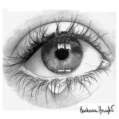 pencil drawings human eye