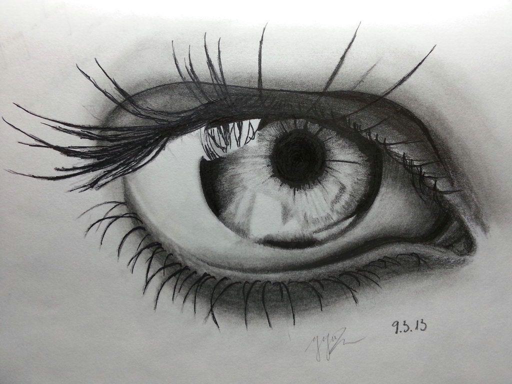 eye pencil art hd wallpaper