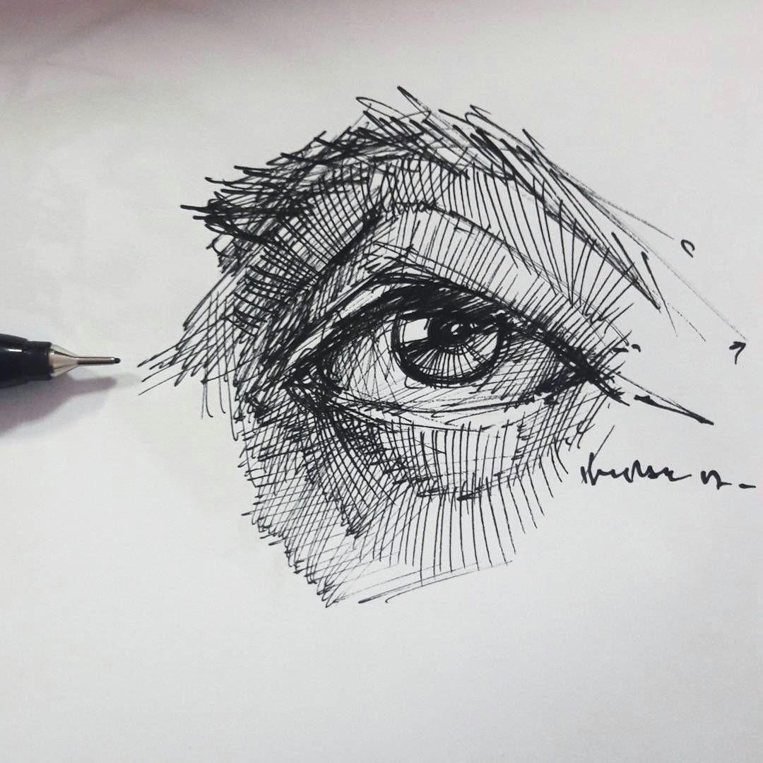 eyedrawing illustration portre dessin pen artsy study portrait