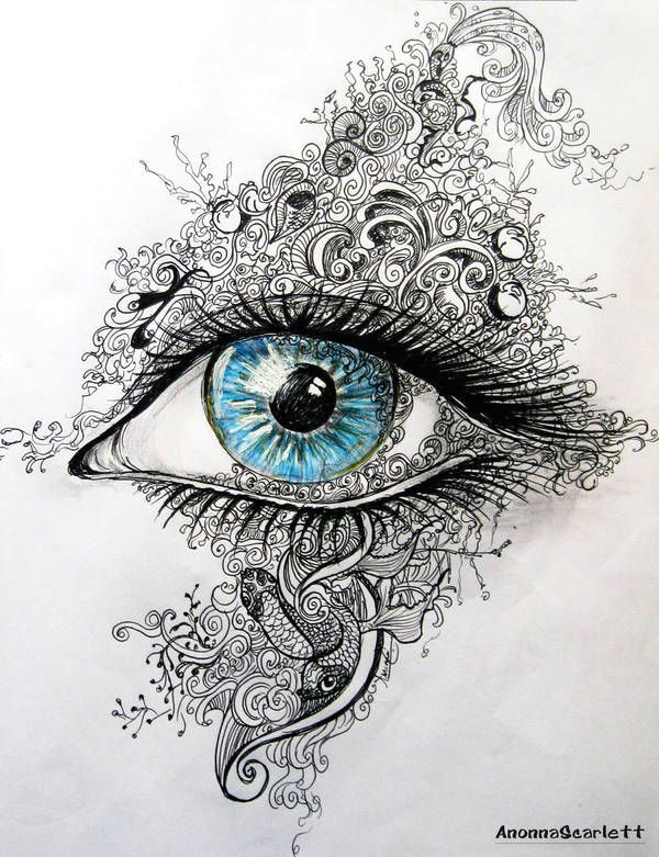 Drawing Eyes Line Through the Eye by Anonnascarlett Art In 2019 Pinterest