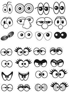this collection of eyes is good inspiration for cake or cookie decorating cartoon eyes drawing