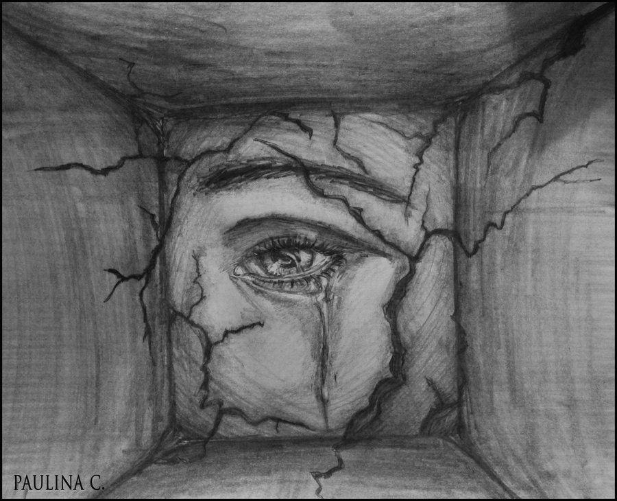 sad eye by paulinac on deviantart