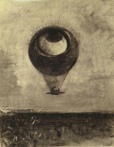 the eye like a strange balloon mounts towards infinity odilon redon 1878