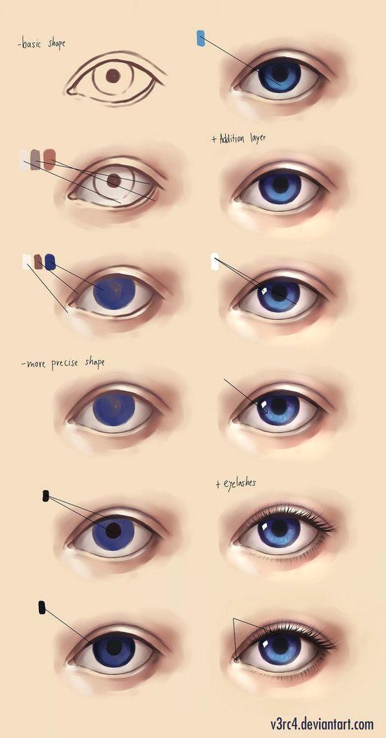 como fazer olhos passo a passo eye drawing tutorials art tutorials digital art tutorial