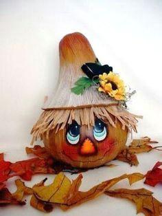 halloween halloween gourds halloween scarecrow halloween crafts halloween decorations hand painted gourds