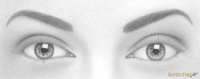 Drawing Eyes Outline How to Draw A Pair Of Realistic Eyes Rapidfireart
