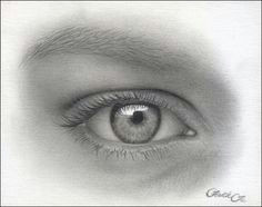 female eye pencil drawing f 14 photo