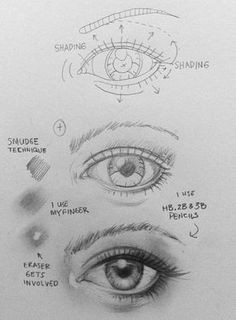 dibujo a lapiz paso a paso diy drawing eyes shading drawing drawing