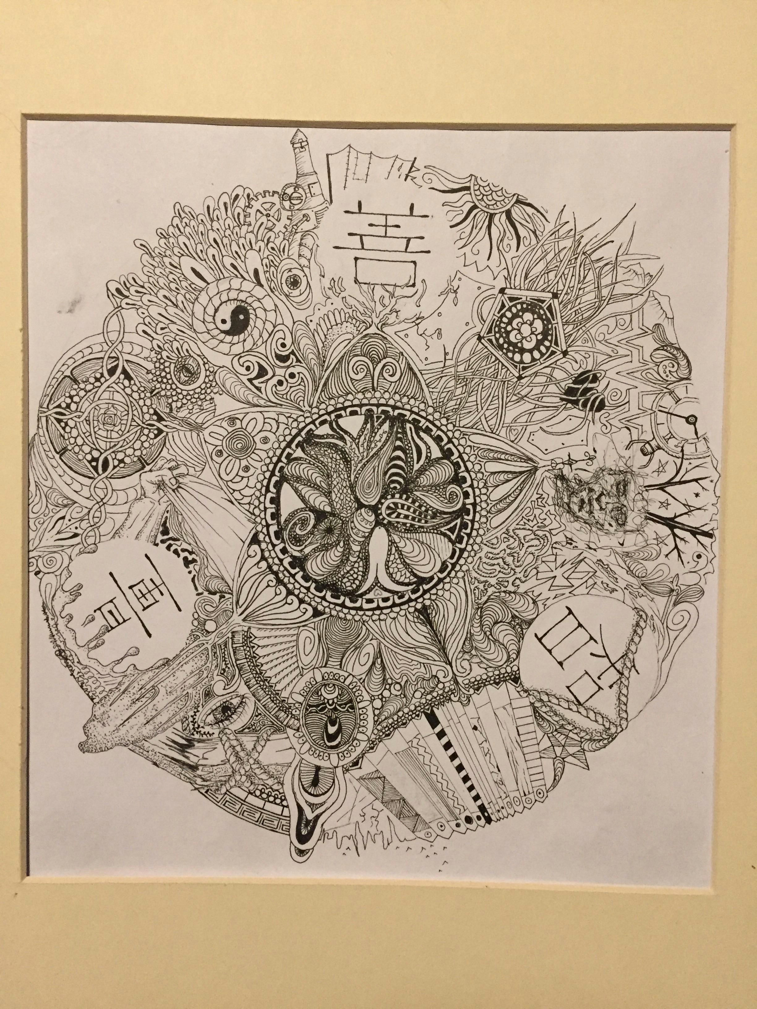 this is my first reddit post its a mandala in pen and ink